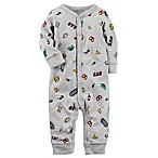 carter's® Size 9M Snap-Up Food Sleep & Play Coverall in Grey
