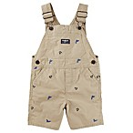 OshKosh B'gosh® Size 3-6M Nautical Schiffli Twill Shortall in Khaki