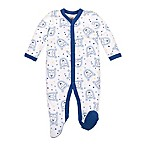 Lamaze® Size 3M Lions Footie in Blue/White
