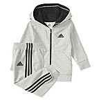 adidas® Size 6M 2-Piece Athletics Jacket and Pant Set in Grey