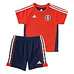 adidas® Size 6M 2-Piece Hat Trick Shirt and Short Set in Red