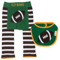 Izzy & Owie Size 12-24M 3-Piece Football Legging and Bib Set