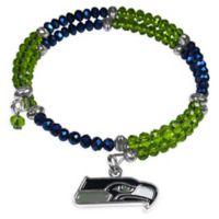 NFL Seattle Seahawks Memory Wire Crystal Bracelet