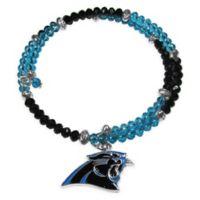 NFL Carolina Panthers Memory Wire Crystal Bracelet