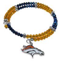 NFL Denver Broncos Memory Wire Crystal Bracelet