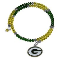 NFL Green Bacy Packers Memory Wire Crystal Bracelet