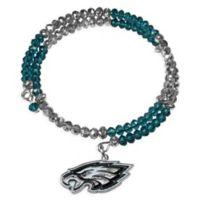 NFL Philadelphia Eagles Memory Wire Crystal Bracelet