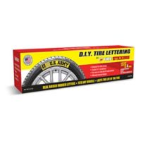 Tire Stickers U.S. Army 4-Pack Tire Badges in Yellow