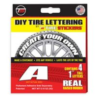 "Tire Stickers® 4-Pack Letter ""A"" Tire Stickers in White"