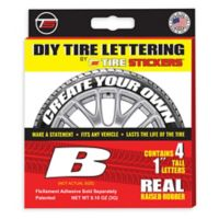 "Tire Stickers® 4-Pack Letter ""B"" Tire Stickers in White"
