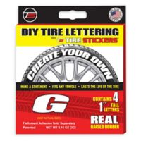"Tire Stickers® 4-Pack Letter ""G"" Tire Stickers in White"