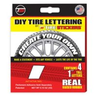 "Tire Stickers® 4-Pack Letter ""I"" Tire Stickers in White"