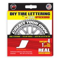 "Tire Stickers® 4-Pack Letter ""J"" Tire Stickers in White"