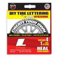 "Tire Stickers® 4-Pack Letter ""L"" Tire Stickers in White"