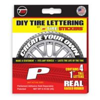 "Tire Stickers® 4-Pack Letter ""P"" Tire Stickers in White"
