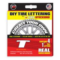 "Tire Stickers® 4-Pack Letter ""T"" Tire Stickers in White"