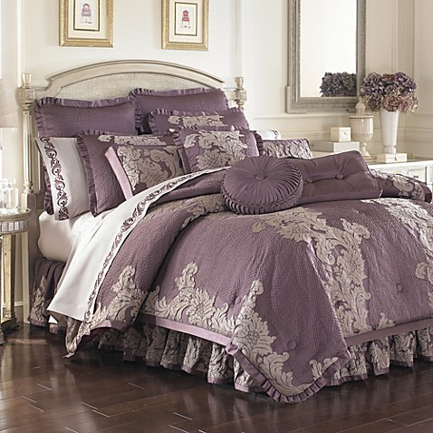 anastasia purple comforter sets bed bath beyond. Black Bedroom Furniture Sets. Home Design Ideas