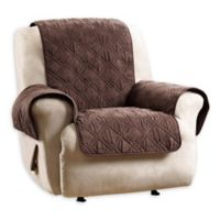 Sure Fit Quilted Pet Recliner Cover In Chocolate