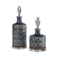 Uttermost Varuna 2-Piece Decorative Bottle Set in Blue