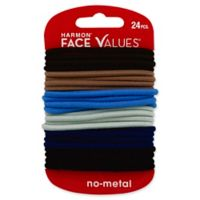 Harmon® Face Values™ 24-Count Elastic Ponytail Holders in Denim