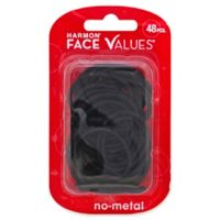 Harmon® Face Values™ 48-Count Small Elastic Band Ponytail Holders in Black