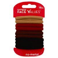 Harmon® Face Values™ 18-Count Nylon Ponytail Holders in Natural