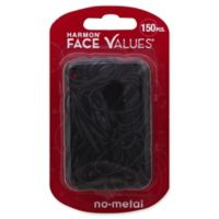 Harmon® Face Values™ 150-Count Elastic Band Ponytail Holders in Black