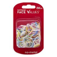 Harmon® Face Values™ 250-Count Elastic Band Ponytail Holders in Brights