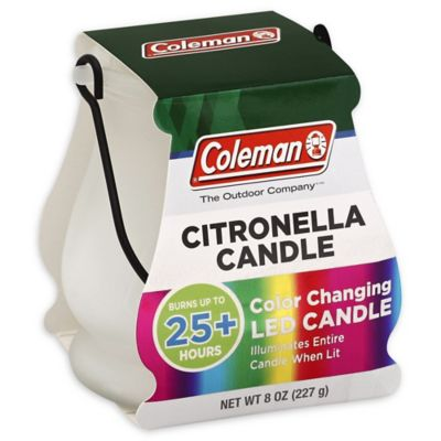 Coleman<strong> </strong>8 oz. Color Changing LED Outdoor Citronella Scented Candle