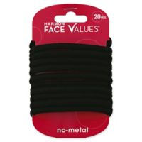 Harmon® Face Values™ 20-Count Elastic XL Thick Ponytail Holders in Black