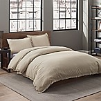 Garment Washed Solid Full/Queen Duvet Cover Set in Dune