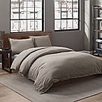 Garment Washed Solid King Duvet Cover Set in Fog