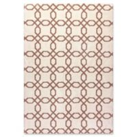Dyanmic Rugs Fences Shag 6'7 x 9'6 Area Rug in White/Beige