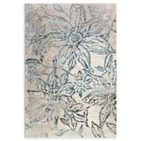 Dynamic Rugs Fusion Stencil 6'7 x 9'6 Area Rug in Blue/Grey