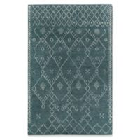 Capel Rugs® Fortress Diamond 5' x 8' Hand-Knotted Area Rug in Blue