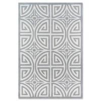 Momeni Bliss Geometric 5' x 7'6 Area Rug in Grey