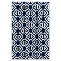 Momeni Bliss Geometric 5' x 7'6 Area Rug in Navy