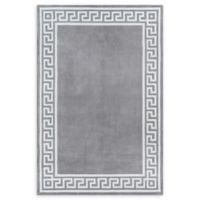 Momeni Bliss Border 2' x 3' Accent Rug in Grey
