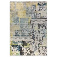 Dynamic Rugs Fusion Flowers and Lace Woven 5'3 x 7'7 Area Rug in Multi