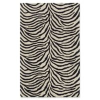 Capel Rugs Expedition Zebra 7' x 9' Area Rug in Black
