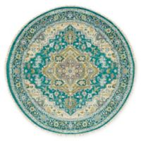Surya Zeus Classic Geometric 8' Round Rug in Emerald/Olive