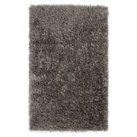 Surya Shimmer 3'6 x 5'6 Shag Area Rug in Medium Grey