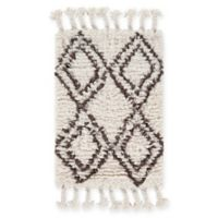 Surya Sherpa Shag 2' x 3' Accent Rug in White/Camel