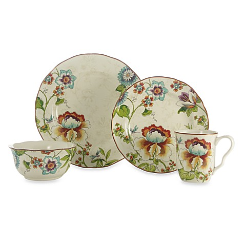 222 fifth bella vista 16 piece dinnerware set bed bath for 222 fifth dinnerware