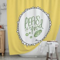 KESS InHouse® Peas in a Pod Shower Curtain