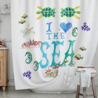 KESS InHouse® I Love the Sea Shower Curtain