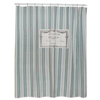 Park B. Smith® Bonhuer 72-Inch Square Shower Curtain in Spearmint