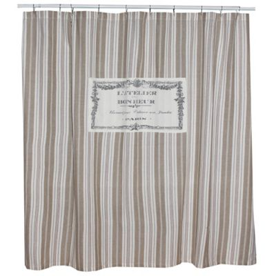 Park B SmithR Bonhuer 72 Inch Square Shower Curtain In Linen