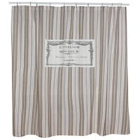 Park B. Smith® Bonhuer 72-Inch Square Shower Curtain in Linen