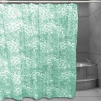 Floral Sketch Shower Curtain in Spearmint